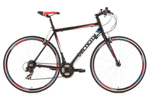 KS Cycling Uni Fahrrad Fitnessbike Alu-rahmen 28 Zoll Velocity 21-gänge RH 56 cm, Schwarz, 28, 124R