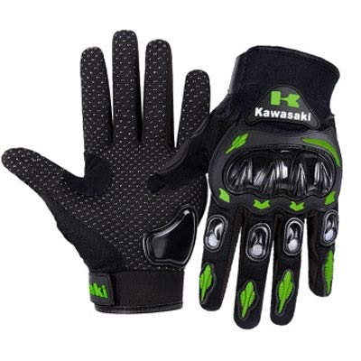 LIXUE Gloves Verde Kawasaki Motocicletta Equitazione off-Road Racing Road Flood Control Guanti Full...
