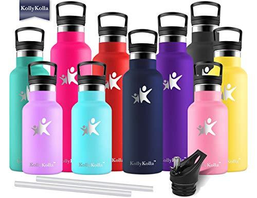 KollyKolla Bottiglia Termica per Acqua in Acciaio Inox, 500ml Senza BPA, Borraccia Sportiva...