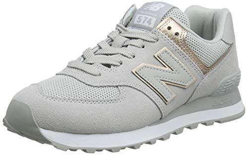 New Balance Damen 574v2 Sneaker White Rain Cloud, 38 EU