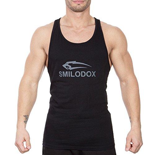 0fa1c574ae28 SMILODOX Stringer Herren   Muskelshirt mit Aufdruck für Sport Gym ...