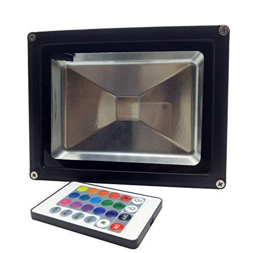 YXH 20W Proiettore LED RGB cambia colore (16 colori/4 modalità/Telecomando a 24 tasti), Faretto LED...