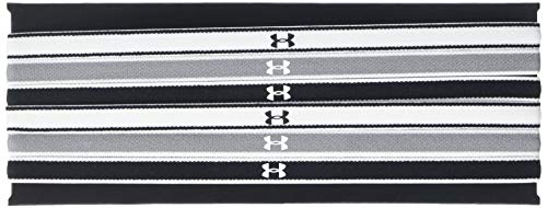 Under Armour UA Mini Headbands (6Pk), Fascia Donna, Nero (Black/Steel/White), Taglia unica