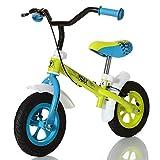 LCP Kids Kinder Laufrad ab 2 Jahren - 10' Luftreifen - Bremse - max. 20 kg - Lenkerpolster; Grün