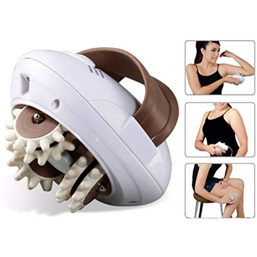 HEMIZA Zamkar Trades Electric Body Slimmer Roller Massager for Weight Loss and Pain Relief with 2 Attachment (White)