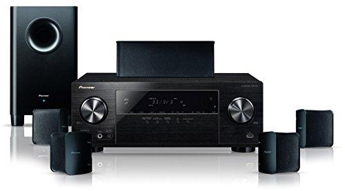 Pioneer HTP-206(B) 5.1 Heimkinosystem mit AV Receiver und Lautsprecher Set (130 W/Kanal, Multiroom, Bluetooth, Dolby TrueHD, 4K UltraHD Durchleitung, Radio, Front USB/Audio in, Eco Mode), Schwarz