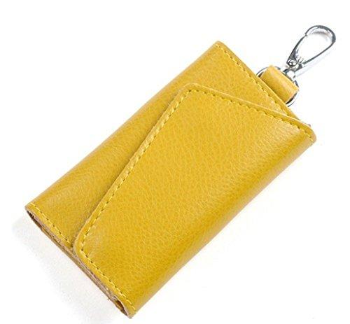 Portachiavi borsellino da Donna Uomo in Pelle (Giallo)