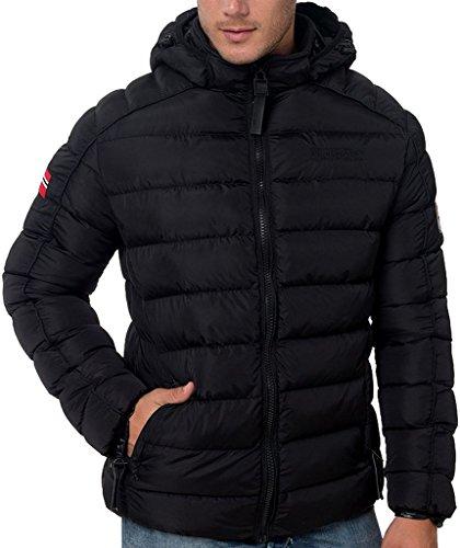 Piumino Beckam Geographical Norway Uomo Jacket Giubbotto imbottito Men Anapurna -Nero-M