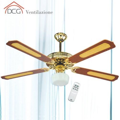 Ventilatore da soffitto 4 pale con telecomando DCG Eltronic