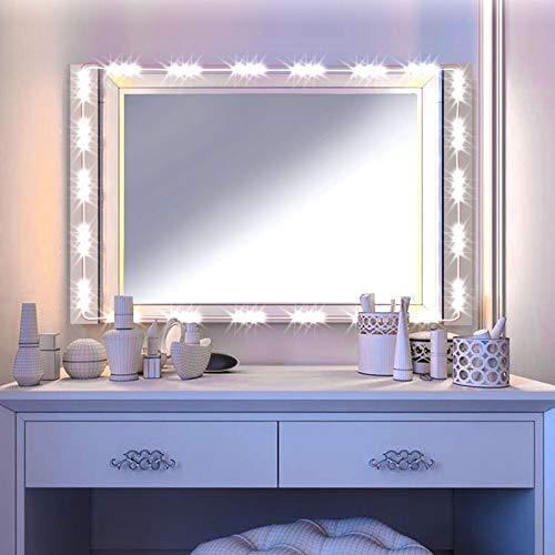 Viala Luci da Specchio Dimmabili LED, 60 Luci per Make Up,Barra Luminosa a LED, Luce Specchio per il...