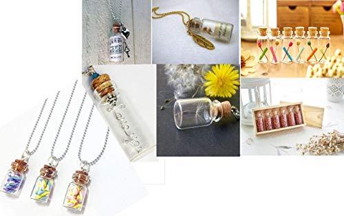 DIY Crafts 20 Pcs 20ml Cork Stoppers Glass Bottles, DIY Decoration Mini Glass Bottles Favors, Mini Vials Cork, Message Glass Bottle Vial Cork, Small Glass Bottles Jars Corks for Wedding Party Favors 6
