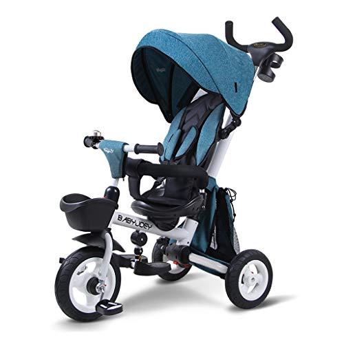 Tricicli for Bambini Trolley Portatile 3 in 1 Passeggino con Tenda da Sole Bicicletta for Tutti I...