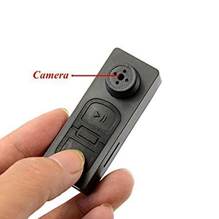 SekyuritiBijon HD Audio and Video CCTV Cam Covert Spy Miniature Button Hidden Camera with SD Card Slot - Up to 32GB