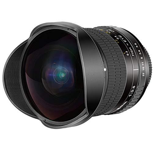 Neewer 8mm f/3,5-22 Obiettivo Fisheye HD Asferico con Copriobiettivo Protettivo, Paraluce Rimovibile per Tulipano e Borsa da Trasporto per Fotocamere Nikon Reflex Digitali