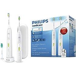 Philips Sonicare HealthyWhite+ Elektrische Zahnbürste mit Schalltechnologie HX8923/34, weiß, Doppelpack