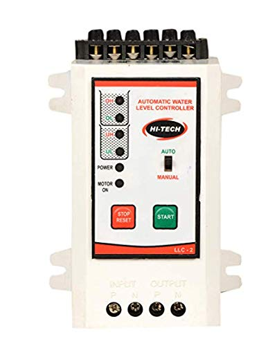 Hitech Fully Automatic Water Level Controller with Dry Run Protection With 6 nos stainless steel sensor