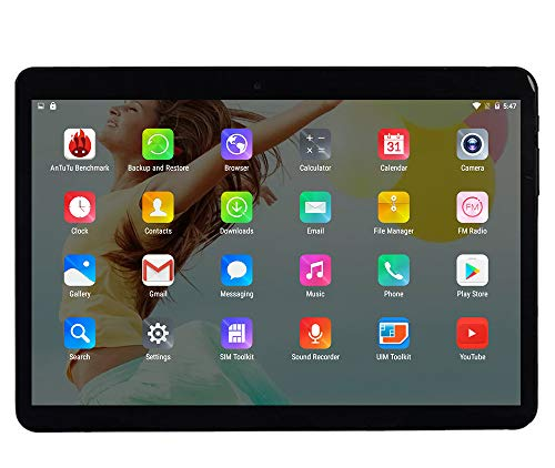 10 Zoll Octa Core CPU Android Tablet 4GB RAM 64GB interner Speicher WiFi Kamera GPS Dual SIM ohne Netzsperre 3G Tablet (Metall Schwarz)