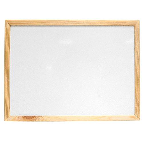 Emako - Lavagna bianca magnetica con cornice in legno. 60x80