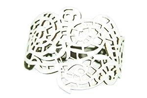 pretty_awesome Boho Hippie Armband Ornamente Sommer (weiß)