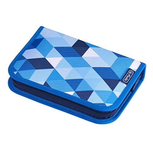 Herlitz Triple Etui Astuccio, 20 cm, Blu (Blau)