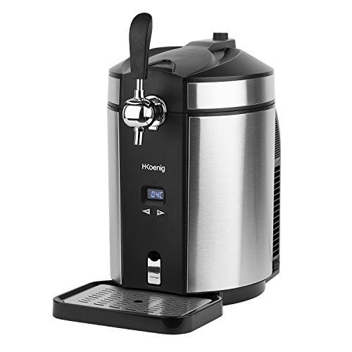 H.Koenig BW1880 Tireuse à Biere compatible avec les Fûts Universels non Pressurisés de 5L Inox, Machine, Pompe, Pression domestique, Professionnelle, Universelle, Refroidissement intégré 2 à 12 °C