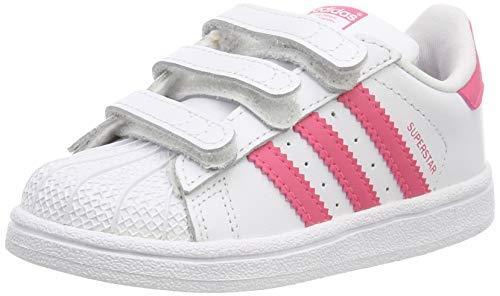adidas Superstar CF I, Sneaker Unisex Bimbo, Bianco Ftwr White Clear Pink, 20 EU