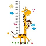 Medidor Niño Pared YeahiBaby Medidor de Altura Infantil Gráfico de Crecimiento con Mono y Jirafa