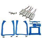Homyl Tren de Aterrizaje + Motor + Marco de Protecciónpara Cámara Pieza de Repuesto para Syma X8C X8G X8W X8G X8HG Quad - Azul