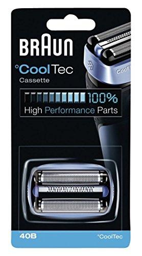 Braun 40B - Recambio para afeitadora eléctrica, compatible con afeitadoras CoolTec, color azul