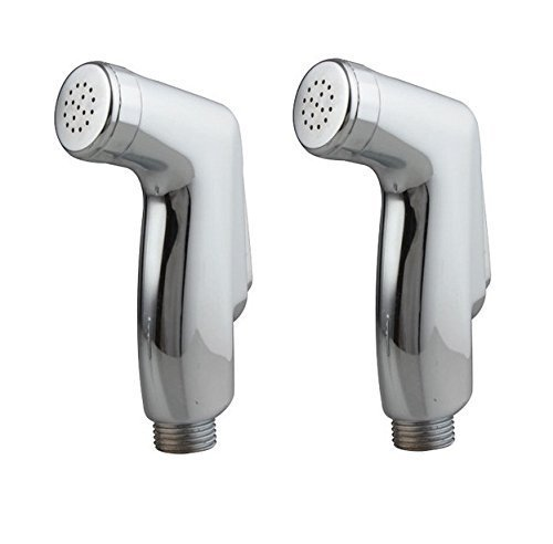 SBD ABS Health Faucets with Teflon Tape (Silver) - Pack of 2