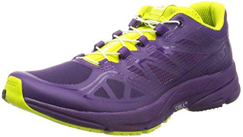 Salomon L37917300, Zapatillas de Trail Running para Mujer, Morado Cosmic Purple/Gecko G, 38 2/3 EU