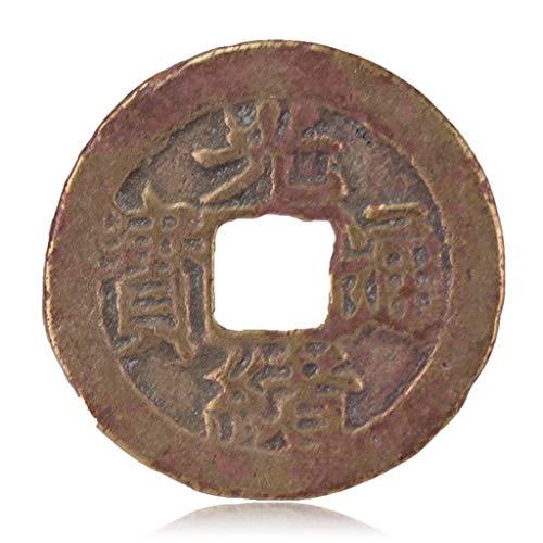ZGZHIZ Alte chinesische Antike Münzen Qing-Dynastie Antike Kupfermünzen Bronzeplatten-Guangxu Tongbao - Baofu Amulett auszutreiben Böse Geister Money Drawing Reichtum Vermögen