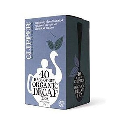 Clipper organic everyday decaf tea (soil association) (black tea) (everyday) (40 bags) (brews in 2-4 minutes)