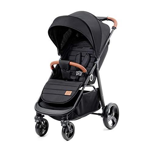 Kinderkraft Passeggino GRANDE Moderno Buggy Leggero Compatto Pieghevole una Mano Finitura Elegante dalla nascita a 3,5 anni (0-15 kg) Nero