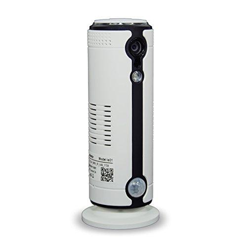 GekoCam - La Telecamera che attacchi ovunque LKM Security LKM-IPCIH03WH Telecamera GSM Wifi 4G con slot SIM e Batteria da interno in HD 1 Megapixel 110° P2P Wireless