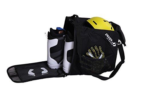 Driver13 Stiefeltasche mit Helmfach für Hart/Softboots/Inliner schwarz