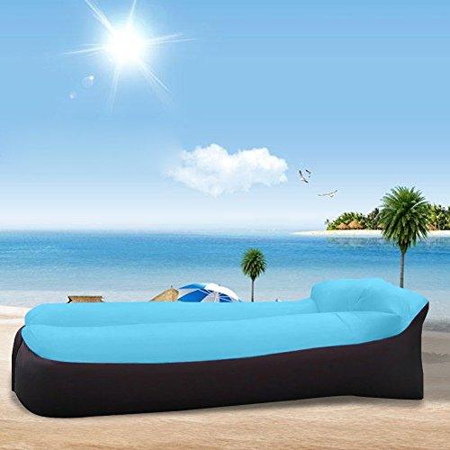 Tongfushop Aufblasbares Sofa Wasserdichtes Aufblasbares Liege Air Sofa, Aufblasbare Couch Tragbar Outdoor Sofa für Drinnen, Freizeit Reisen und Schwimmbad (01) - 4