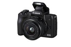 """Canon EOS M50 - Kit de cámara EVIL de 24.1 MP y vídeo 4K con objetivo EF-M 15-45mm IS MM (pantalla táctil de 3"""", estabilizador óptico, Wifi), color negro"""