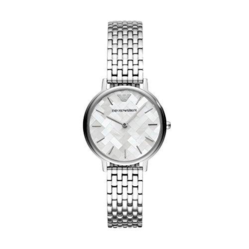 Emporio Armani Damen Analog Quarz Uhr mit Edelstahl Armband AR11112