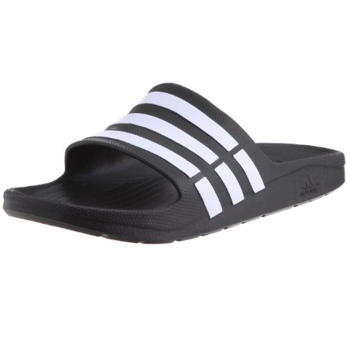Adidas Duramo Slide, Ciabatte da Unisex Adulto, Nero (Black/White/Black), 43 EU (9 UK)