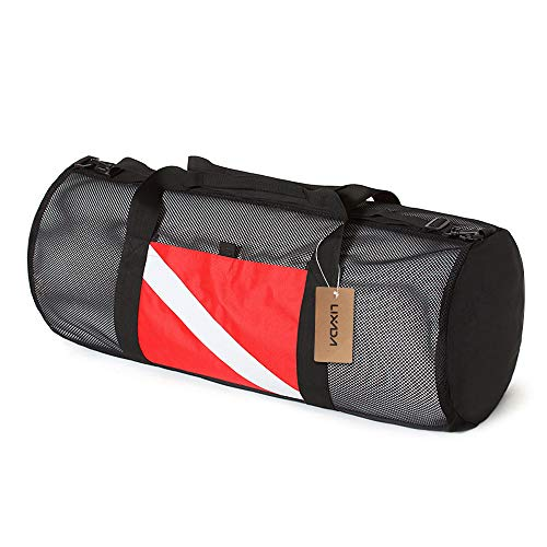 Festnight Mesh Duffel Gear Bag Snorkel Equipment Carry Bag for Mask Snorkel Fins Scuba Diving Surfing Gear