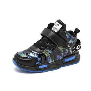 Qianliuk Boy Casual Sport Shoes Children Fashion High top Basketball Sneaker Toddler Anti Slip Running Shoes 41bGzhXeCxL