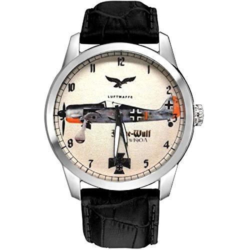 fw-190a vintage Fokker Wulfe Luftwaffe ww-ii Germany Art Collectible orologio da polso