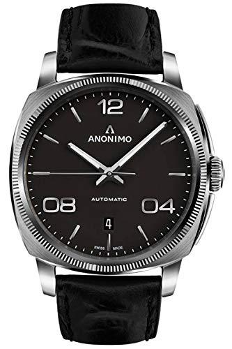 Anonimo epurato Herren Uhr analog Automatik mit Leder Armband AM400001101W11