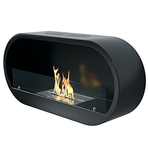 Imagin IMBF21B Wall Mounted Bioethanol Fireplace - Black
