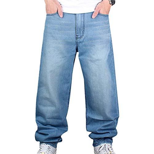 Männer Vintage Hip Hop Baggy Jeans Denim Street Dance Rochenhosen...