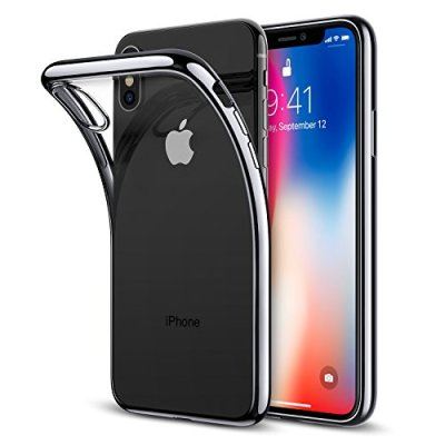 ESR Cover iPhone XS, Cover iPhone X, Custodia Gel Trasparente Morbida Silicone Sottile TPU [Ultra Leggera e Chiaro] con Paraurti Placcati per Apple iPhone XS/X da 5.8 Pollici