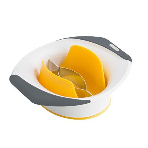 Zyliss Mangoschneider, Mangoteiler E910017, schält, entkernt und teilt die Mango in Sekunden.Mit Soft-Touch Griff.
