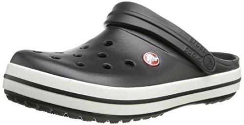 crocs Unisex-Erwachsene Crocband U' Clogs, Schwarz(Black/White), 43/44 EU