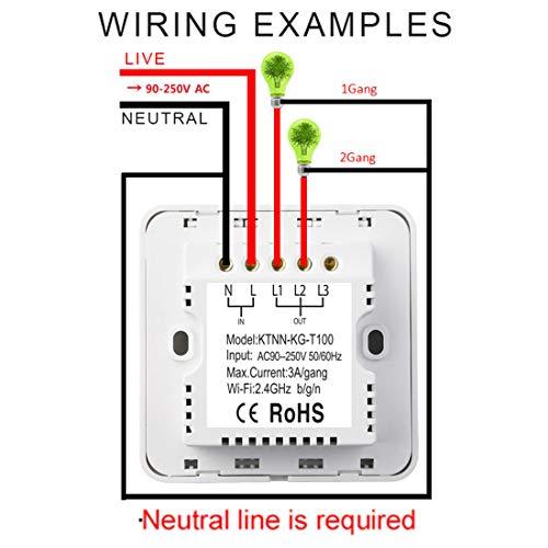 Wi-FI-Interrupteur-Intelligent-Smart-Light-Interrupteur--Deux-Voies-pour-Apple-Homekit-Et-Siri-Remote-Control-Support-24-Ghz-Rseau-Pole-Beige-Ncessite-Un-Fil-De-Neutre